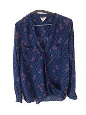 Maeve Woman's Top Blouse Blue Size 6