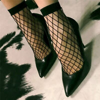 1 Pair Women Lady Lace Ruffle Fishnet Short Ankle Socks Stockings Mesh 2017 TO