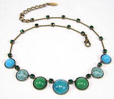 SoHo® Collier Kette vintage 1960s handgemachte Glassteine Böhmen & Deutschland