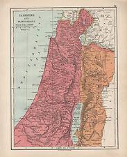 1924 stampa ~ Palestina & transjordania ~ il balsamo di Giudea Samaria Galilea