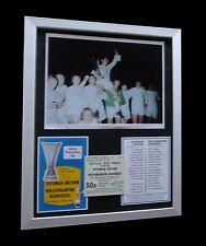 TOTTENHAM / SPURS 1972 UEFA CUP FINAL LTD No'd FRAMED+EXPRESS GLOBAL SHIPPING