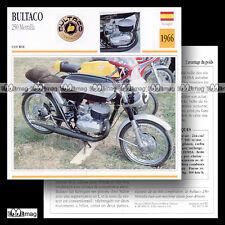 #051.06 BULTACO 250 METRALLA 1966 Fiche Moto Racing Motorcycle Card