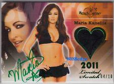 2011 BENCHWARMER LIMITED BIKINI AUTO: MARIA KANELLIS #4/10 SWATCH AUTOGRAPH WWE