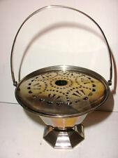 Antique Webster sterling silver basket with flower frog insert