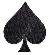 Ecusson patch brodé thermocollant Poker, Pique noir