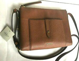 FOSSIL GEMMA Crossbody/Medium/ Leather Bag Purse Messenger/Brown/$148/NWT