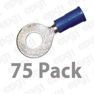 """3M RING TERMINAL VINYL 1/4"""" BLUE 16-14 GAUGE #3M107B-75PK"""