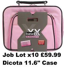 "Job Lot Wholesale x10 Dicota Laptop Carry Case Notebook Shoulder Bag 11.6"" Pink"