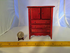 MINIATURE 1:16 VINTAGE CABINET DOORS OPEN, DRAWERS DON'T DOLLHOUSE FURNITURE