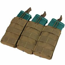 Condor Triple 5.56/.223 MOLLE Bungee Open-Top Mag Magazine Pouch Coyote Brown