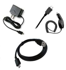 for Kyocera Micro USB Devices Car+Home Charger + Data Cable Accessory Bundle Kit