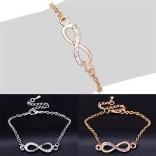 Women Summer Gold Silver Plated 8 shape Bracelet Infinite Charm.Bracelet EB