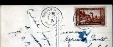 MONTE-CARLO (MONACO) CAP MARTIN & COTE ITALIENNE Vue aérienne 1935 / beau timbre