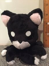 "Tentacle Kitty 4"" Tuxedo Black And White Stuffed Plush Octopus Cat"