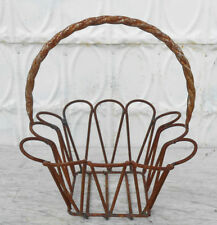 Small Metal Teardrop Baskets 3 Sizes and Wrought Iron design