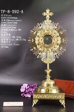 Adoration Monstrance With Luna Red Zircons Tabor Pedestal TP-8-X92-A