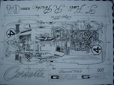 CHEVROLET CORVETTE GRAND SPORT SEBRING 1964 HALL-PENSKE tirage numéroté et signé