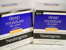 NEUTROGENA  DEEP MOISTURE DAY CREAM 2.25 oz each, SPF 20 (2pks) exp 2018