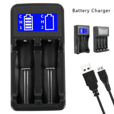 18650 Battery Charger Universal LCD USB 5V Li-ion Lithium A AA AAA 18350 16340