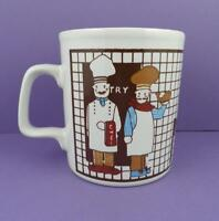 Vintage c1980s Five Chefs Mug in Excellent Unused Condition, Made in England