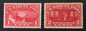 US Q1 & Q3 Parcel Post 1 Cent & 3 Cent Stamps Mint VLH VF/XF