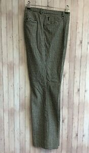 GOLFINO Ladies Wool Black White Check Golf Trousers Size UK 14 16 Large