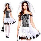 zombie adolescente Ghost Novia Disfraz Halloween Talla única para mujer 10 12