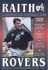 Raith Rovers v Kilmarnock 30/11/96