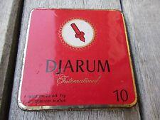 Vintage Djarum internationalen leer rot Tabak Dose Indonesien