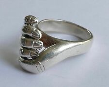 BAGUE CREATEUR ARGENT Handform 925 modernist vintage 70er silver ring