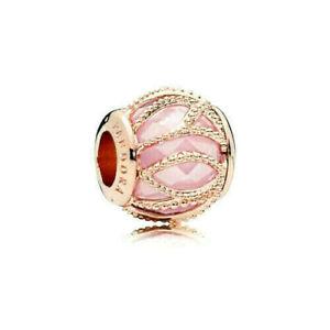 Authentic 14k Rose Gold Pandora Pink Intertwining Charm 781968PCZ