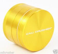 Cali Crusher Herb, Spice & Tobacco Grinder 2 Inch 4 Piece Aluminum New Gold