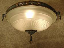 antik grosse Kronleuchter Plafoniere Deckenlampe  Bronze Messing Empire ca. 1930