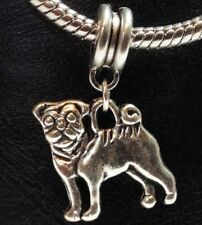 CUTE PUG_Bead for Silver European Chain Charm Bracelet_Dog Pet Pup Puppy Canine