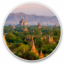 2 x Vinyl Stickers 20cm - Temples Bagan Myanmar Burma Cool Gift #3529