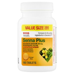 CVS Health Senna Natural vegetable laxative ingredient plus stool soften Tablets