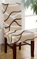 8 Spandex Polyester Printed Home Dining Stretch Chair Covers Seat Slipcover