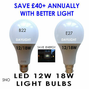 Proper reading light bulb lamp LED 12W 18W daylight suitable artist library