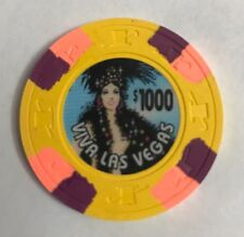 Viva Las Vegas Show Girl $1000 Casino Chip
