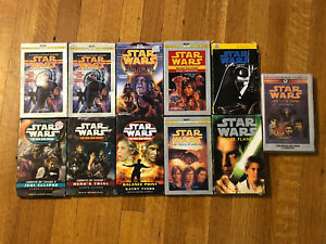 Star Wars Audio Books Cassettes Lot of 11 New Jedi Order + More Book on Tape