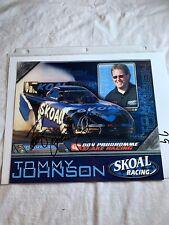Signed Tommy Johnson Jr  Photo Don PrudhommeSnake Racing  NHRA Photo 8 X 10 N 79
