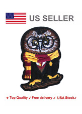 Owl Iron On / Sew On Embroidery Patches harry potter motif hogwarts scarf wizard
