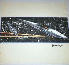 SANDBAGS VINTAGE 70's T-SHIRT PRINT POSTER 70s SPACE SHIP STAR Wars Trek Alien