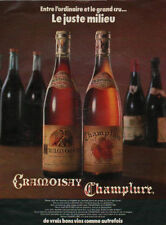 Publicité  Advertising  CRAMOISAY CHAMPLURE
