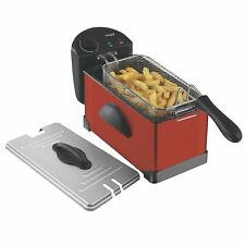 Elgento 3Ltr Stainless Steel Deep Fat Fryer 2KW In Red - E17001RMOB