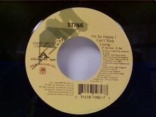 "STING ""I'M SO HAPPY I CAN'T STOP CRYING / THIS WAS NEVER MEANT TO BE"" 45 MINT"