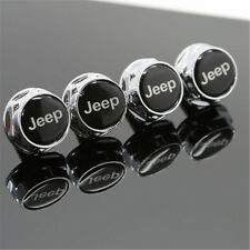 Free Shipping 4PCS Car License Plate Frame Screw Bolts Cap Cover For JEEP Black