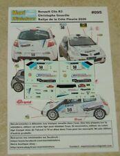 Décals 1/43e Renault Clio R3 Christophe Gouville Rallye de la Côte Fleurie 2020