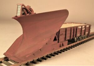 HO Scale MOW Maintenance of Way Pusher Snow Plow with Headlight