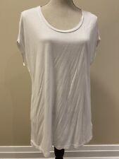 Gap Women's Short Sleeve White Tshirt Classic Size M Longer Style Soft NWT
